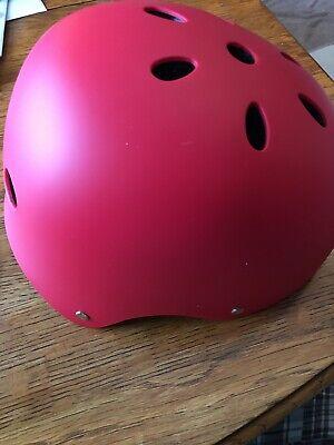 Youth Bike/Skateboard Helmet Medium Red
