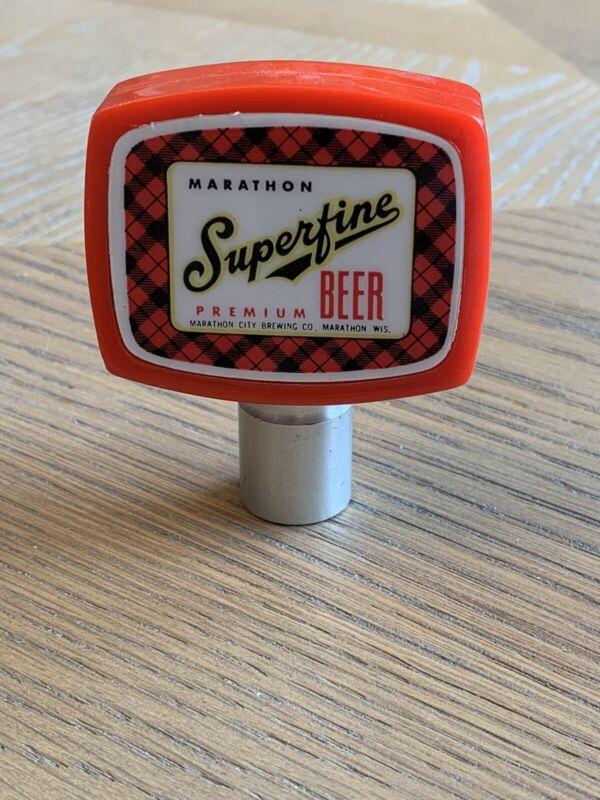 Vintage MARATHON SUPERFINE Beer Knob Tap Handle, Marathon City Brewing WI
