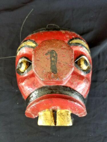 Vintage Traditional Wayang Topeng Mask Penasar from Bali 1960s Hand Carved