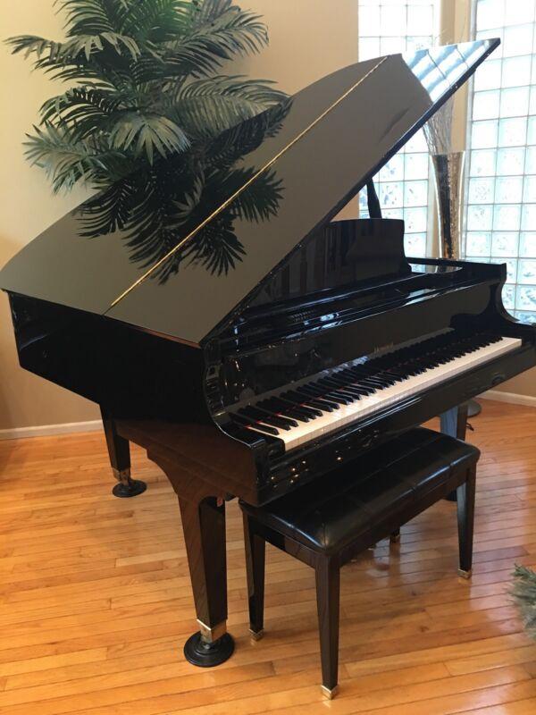 black baby grand piano