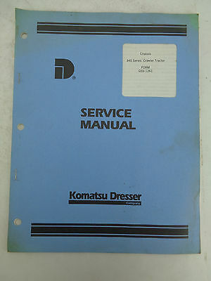 Komatsu Dresser 340 Series Crawler Chassis Factory Service Manual Gss 1261