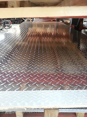 Diamond Plate Aluminum .100 X 36x 48 Alloy 3003