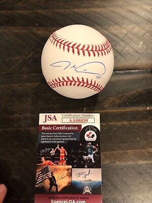 Autographed Jacob Degrom official baseball JSA certified CY YOUNG 2018 WINNER