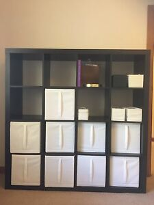 IKEA Expedit Kallax 4 x 4 shelves in black Fitzroy North Yarra Area Preview