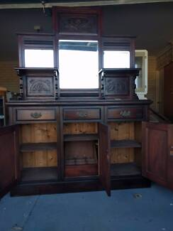 Antique Sideboard with Mirrors
