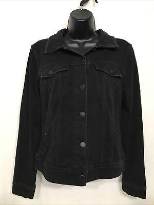 Womens Black Liverpool Knit Jean Jacket Size S