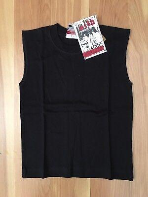Mish Boys Size 5 black muscle  tee Shirt - Black Muscle Boys