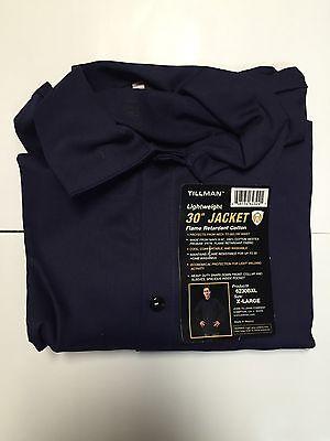 Tillman 6230b 9oz Navy Blue Fr Cotton Welding Jacket Xl