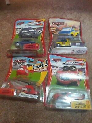 Disney Pixar Cars lot 9 Lightning McQueen, Leakless Referee Pitty Elvis RV Wingo