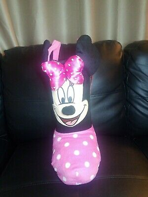 Disney Minnie Mouse Plush Standing Boot Stocking Easter Basket Christmas 13""