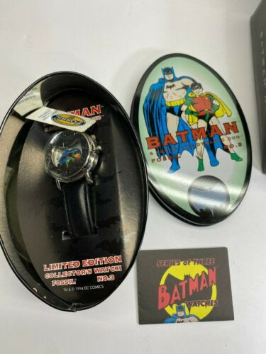 Fossil 1994 Batman & Robin #3 Watch New In Box Complete Working No Reserve