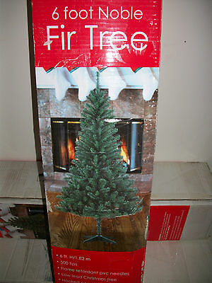 6' Foot  Noble Fir Fake  Artificial Christmas Tree w/ Stand 72