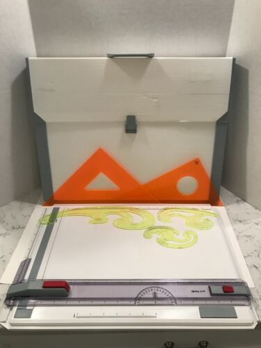 Rotring Profil Drawing / Drafting Board With Case Straight Edge & Extras - A3