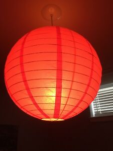 Red Lamp Shade Indoor Ceiling Lighting