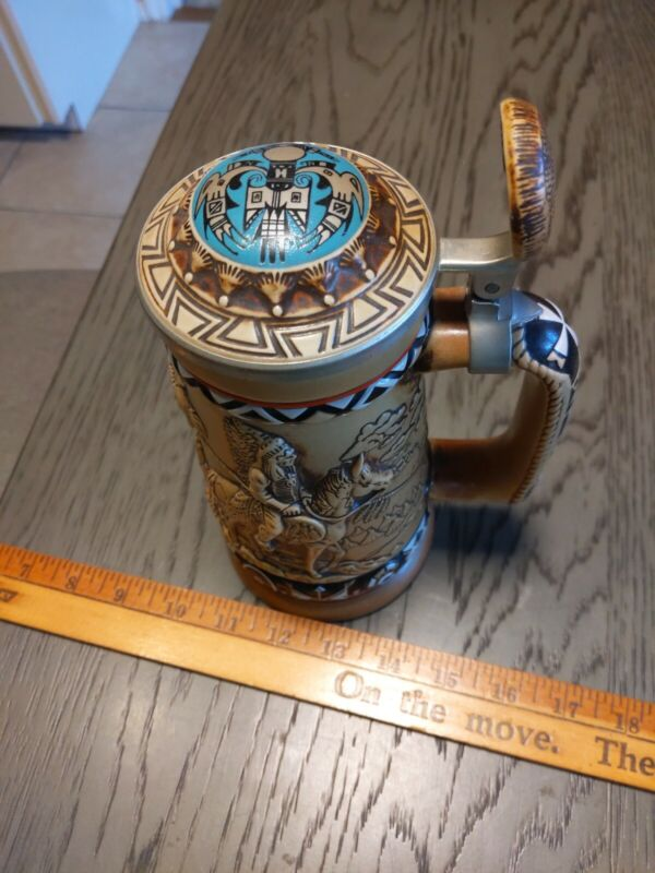 Vintage 1988 Avon Indians of the American Frontier Beer Stein Made in Brazil
