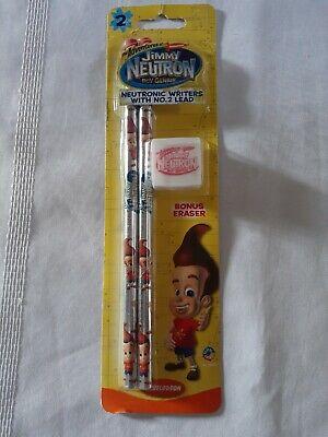 New The Adventures Of Jimmy Neutron Pencils Eraser Old School Nickelodeon