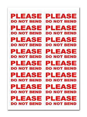 160 - Please Do Not Bend - Large Labels Stickers