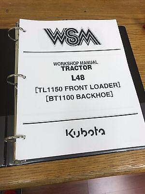 Kubota L48 Tractor Loader Backhoe Workshop Service Repair Manual Binder