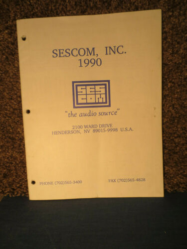 Sescom  Brochure 1990