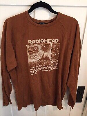 Radiohead Vintage Tour Concert Music t-shirt Waste XXL 2x 2xl Brown Amnesiac