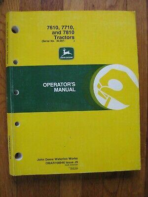 John Deere 7610 7710 7810 Tractor Operators Manual Serial No. 30001 Up