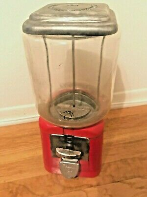Oak Acorn 1 cent Gumball Machine penny machine glass globe all metal