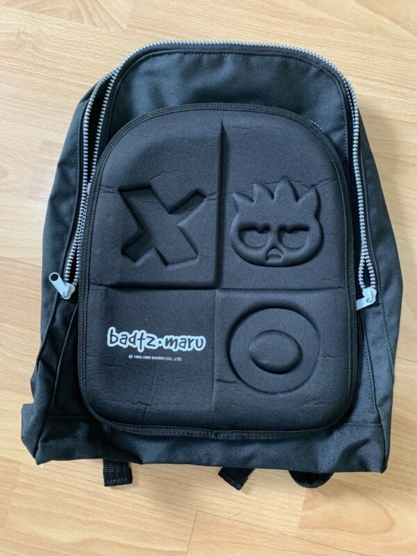 RARE Vintage 1999 Badtz-Maru Penguin Black Small Backpack Sanrio Hello Kitty