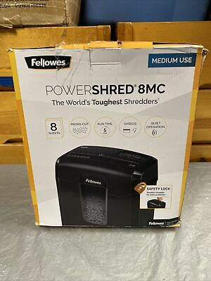 Fellowes Powershred 8mc Level P-4 Micro-cut Shredder Pk170 Free Shipping