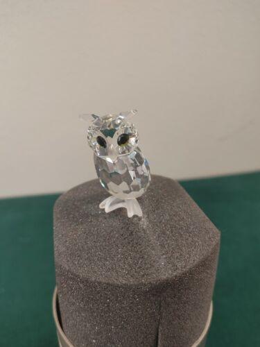 "Swarovski Crystal Figurine LARGE OWL 7636 NR60 2.5"" + Box & Booklet"