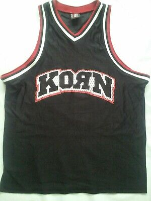VINTAGE RARE GIANTS BRAND 1998 KORN #98 LIFE IS PEACHY BASKETBALL JERSEY SIZE XL