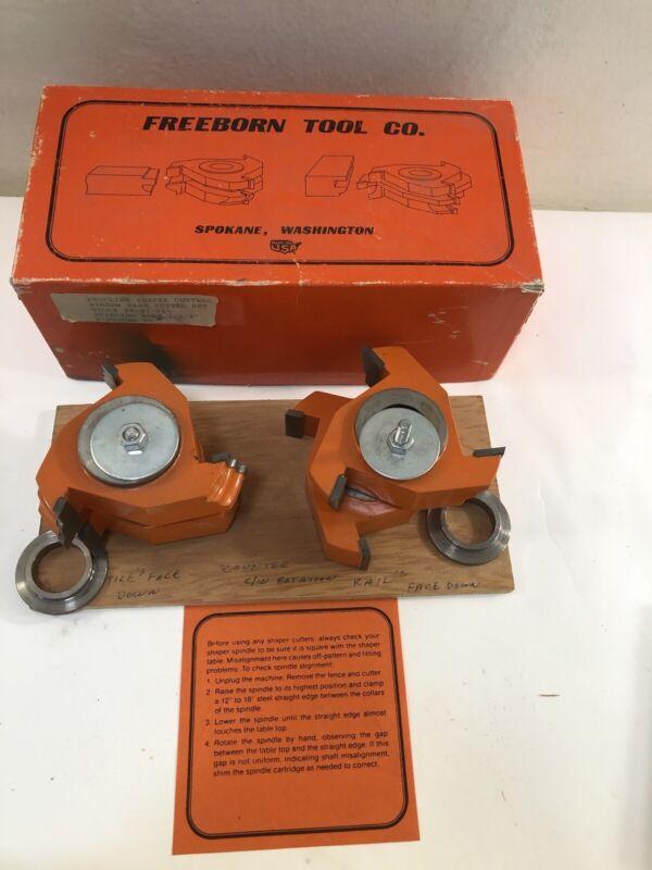"Freeborn PT-27-010 Pro-Line Shaper Window Sash Cutter Set 1-1/4"" Standard Bore"