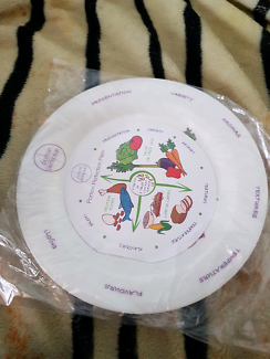 brand new portion control plate and bowl set