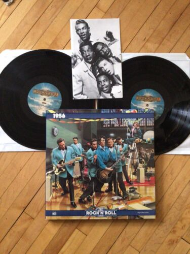 The Rock N Roll Era 1956 Double Vinyl LP, NM Records, W/booklet - $1.00