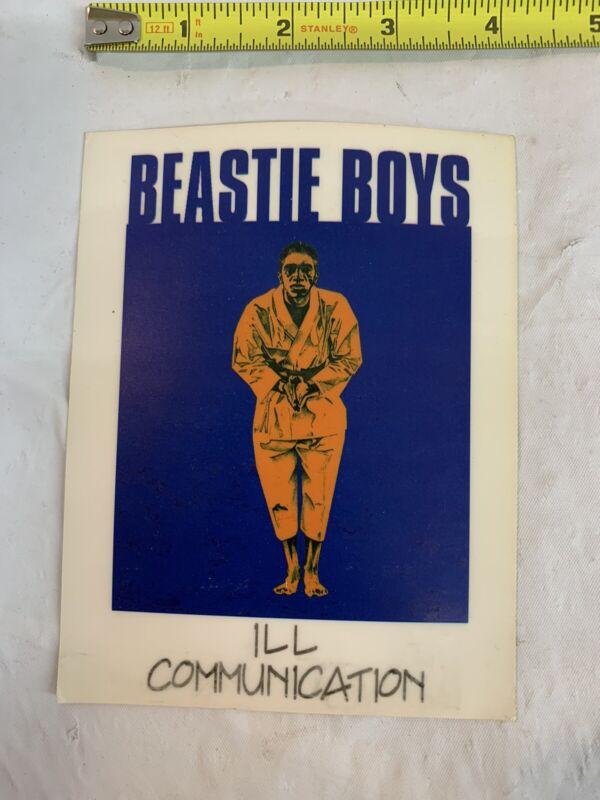 Blue  + Orange Beastie Boys Ill Communication Vintage Decal Cling Sticker