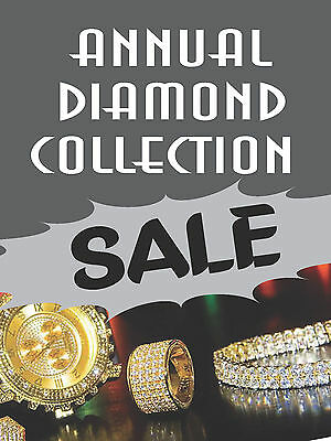 Annual Diamond Collection Sale Jewelry Retail Display Sign18w X 24hfullcolor
