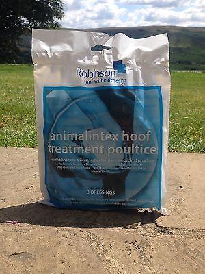 ROBINSON ANIMALINTEX HORSE / PONY HOOF TREATMENT POULTICE - 3 DRESSINGS