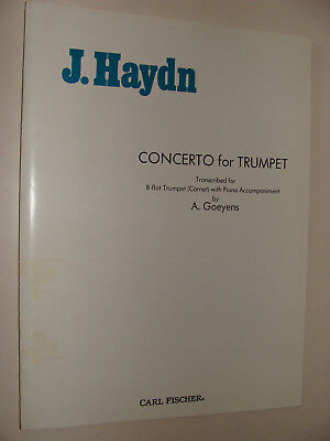 Used,  Joseph Haydn  Concerto for Trumpet (Cornet) B-flat , piano tr. A Goeyens for sale  Hebron