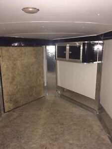 24' Enclosed snowmobile trailer