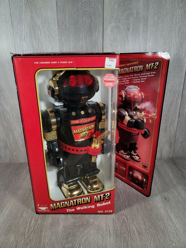 Vintage 1984 Magnatron MT-2 Black Robot! New Bright, Complete in Original Box!
