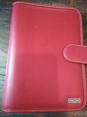 Franklin Covey Planner Day 1 One Red Business Office Organizer Compact Binder