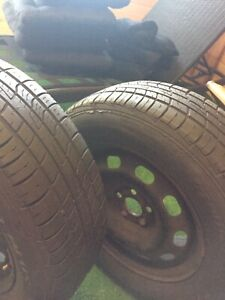 VW Golf Tire's 195/65R15's and Steel Rims 5x100 Bolt Pattern