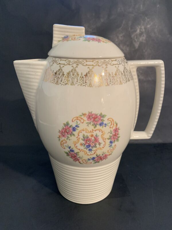 """Sebring China """"China Bouquet"""" TS-284 Coffee/Tea Pitcher HARD TO FIND"""