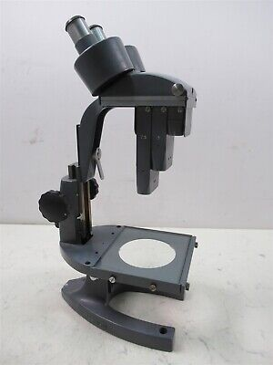 Vintage Bausch Lomb Stereo Zoom Lab Microscope Ed2919 3 Objectives 7.5x 3x 1x