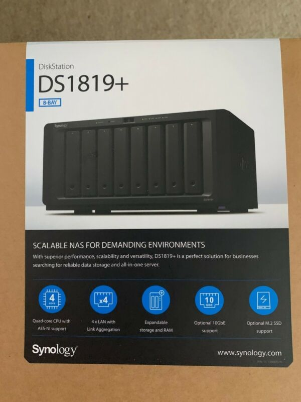 Synology DiskStation DS1819+ 32GB RAM 80TB Storage (8x10 IronWolf Drives) 10GbE