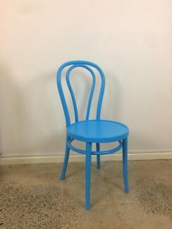 Blue bentwood chair