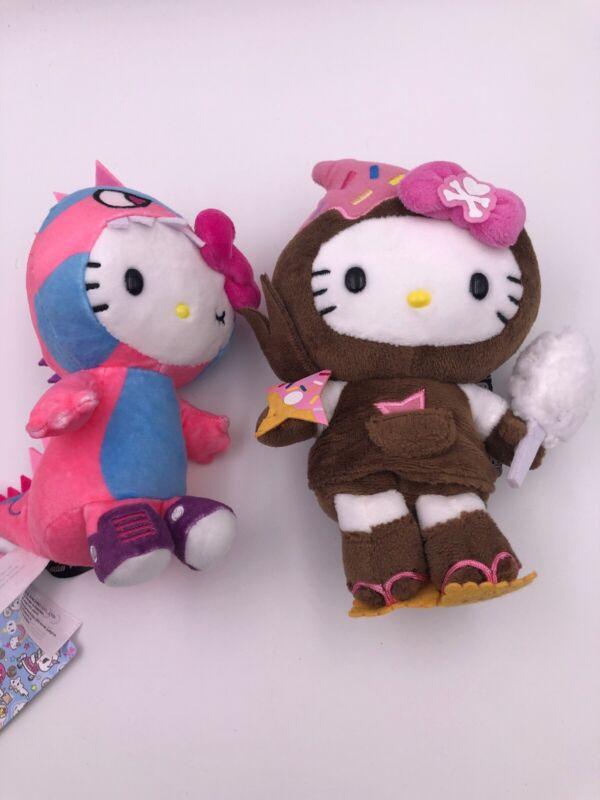 Tokidoki For Hello Kitty: Bean Doll Plush Set: Kaiju and Ninja (AAA)