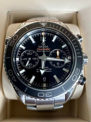 OMEGA Seamaster Planet Ocean 600m Master Chronometer Men's Black Watch. Boxed.