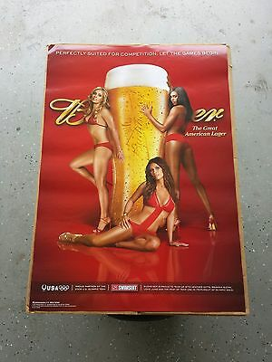 BRAND NEW Budweiser Beer Sports Illustrated Swimsuit Hot Girls Poster Beer Glass