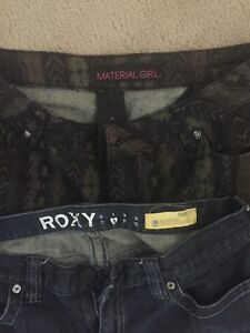 Roxy and material girl jeans size 9