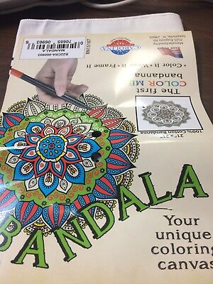 Color Me Bandanna Mandela Color Wear Frame Scarf Head Wrap Picture craft for sale  Shipping to South Africa